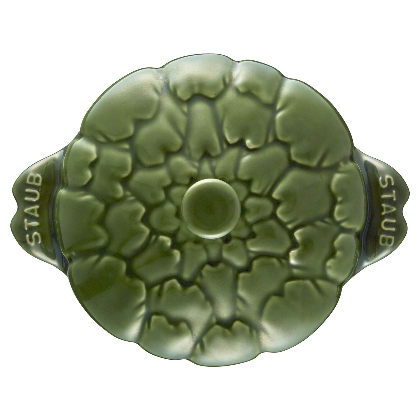 Cocotte 13 cm, Artischocke, Basilikum-Grün, Keramik,,large 11