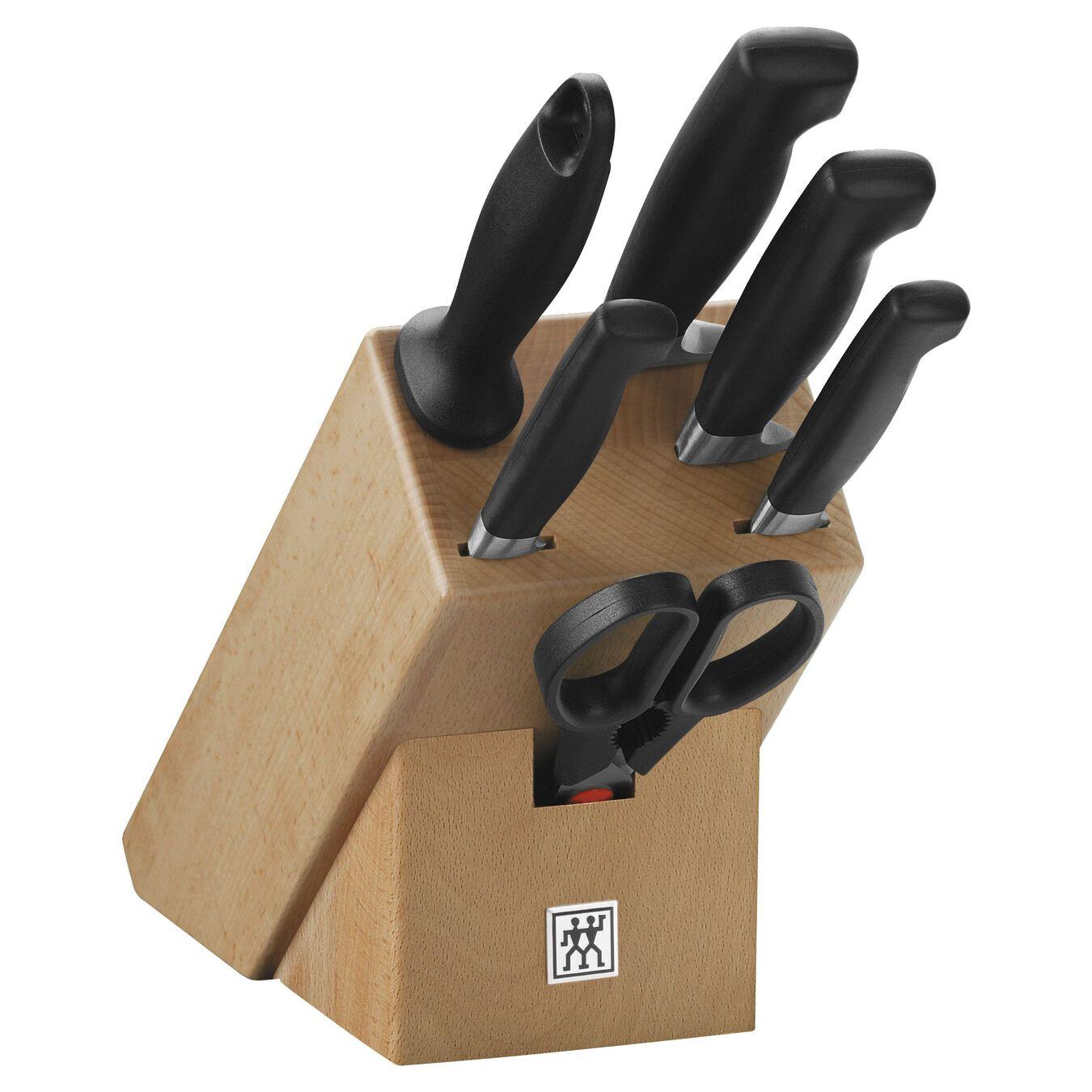 Sæt med knivblok 7-dele, Natur,,large 1
