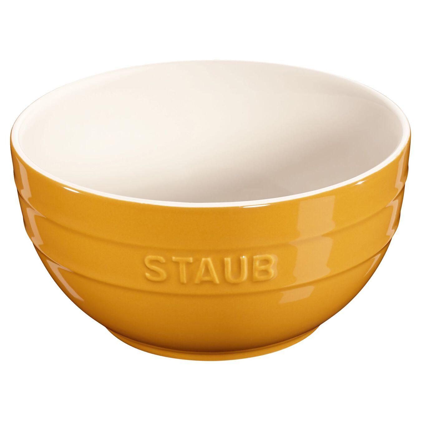 Schüssel 17 cm, Keramik, Senf,,large 1