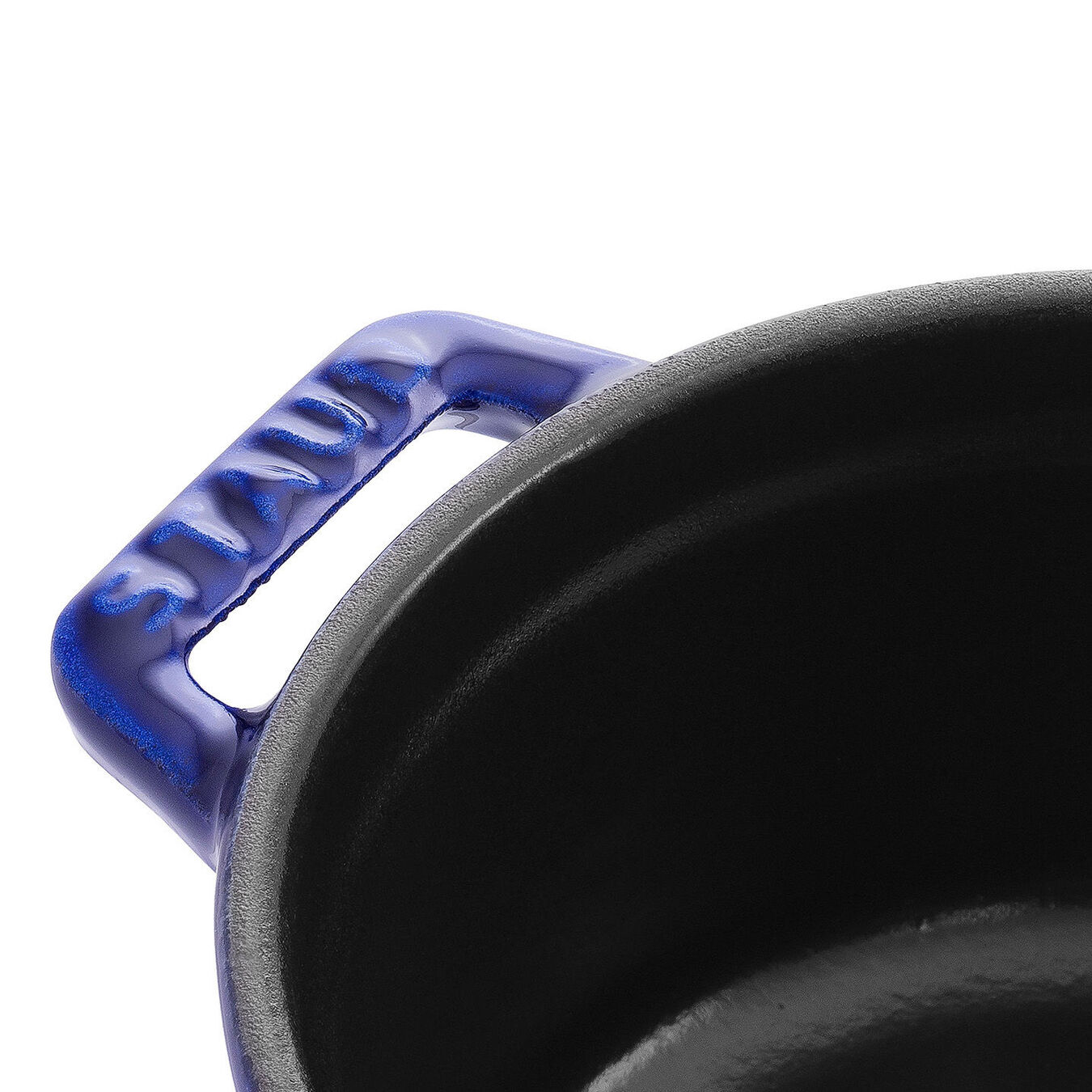 0.25-qt Mini Round Cocotte - Dark Blue,,large 2
