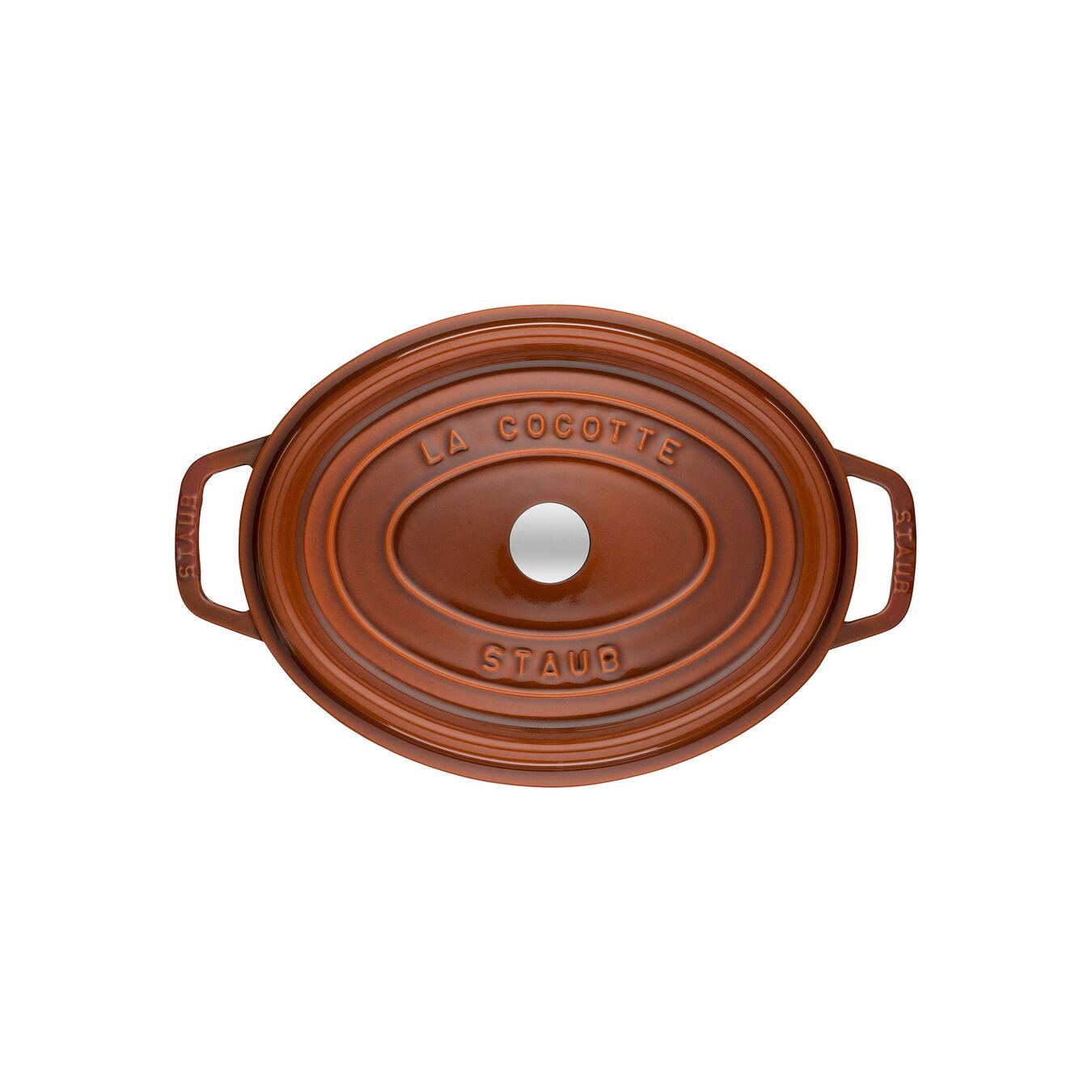 Cocotte 29 cm, Ovale, Cannelle, Fonte,,large 4