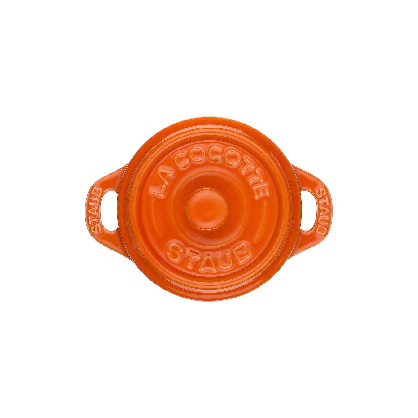 Mini Cocotte 10 cm, Rund, Orange, Stentøj,,large 3