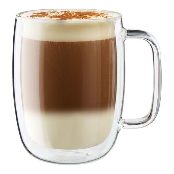 2-pc Double-Wall Glass Latte Mug Set,,large