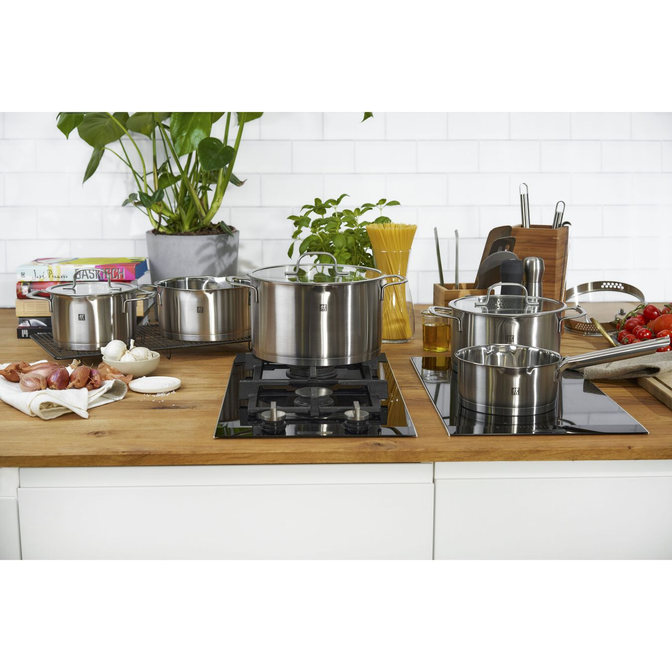 9 Piece Cookware Set , 5 Piece | round | stainless steel,,large 9