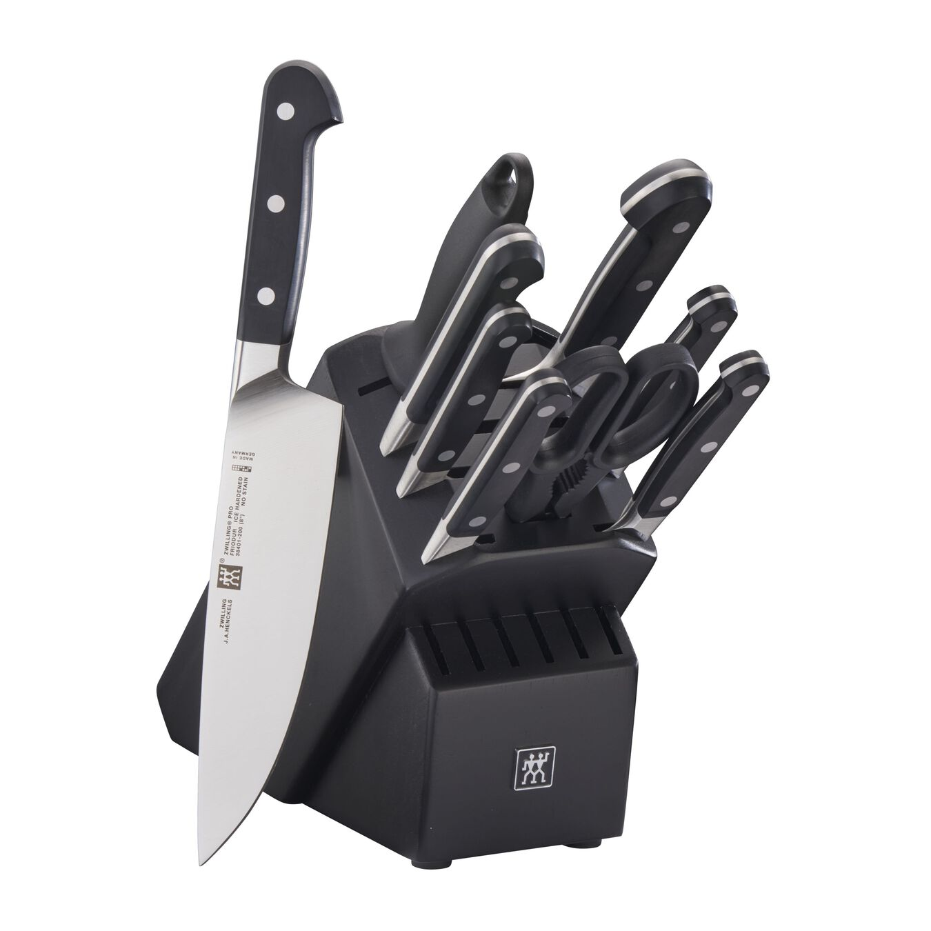 10-pc, Knife block set, black matte,,large 1