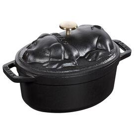 Staub La Cocotte, 1 l oval Cocotte, black