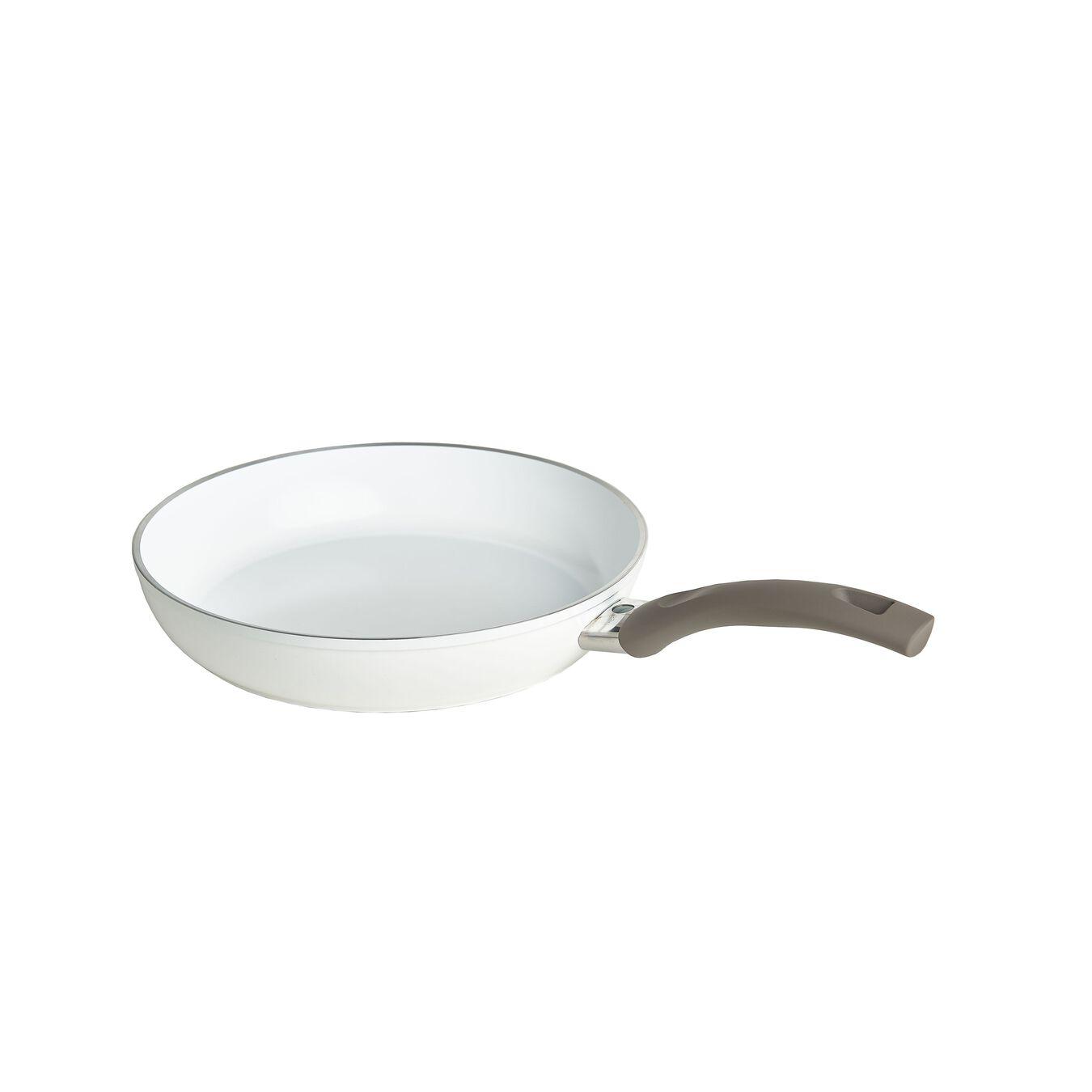 Poêle basse 28 cm, Aluminium, Blanc,,large 2