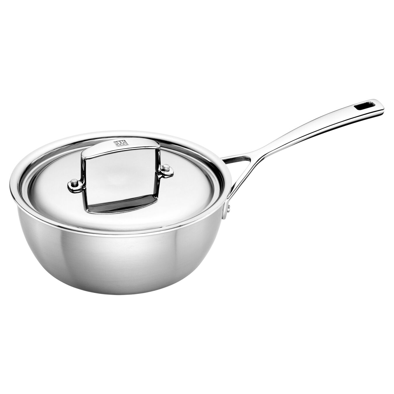 5 Ply, 18/10 Stainless Steel, 1.75 qt, Sauteuse,,large 2