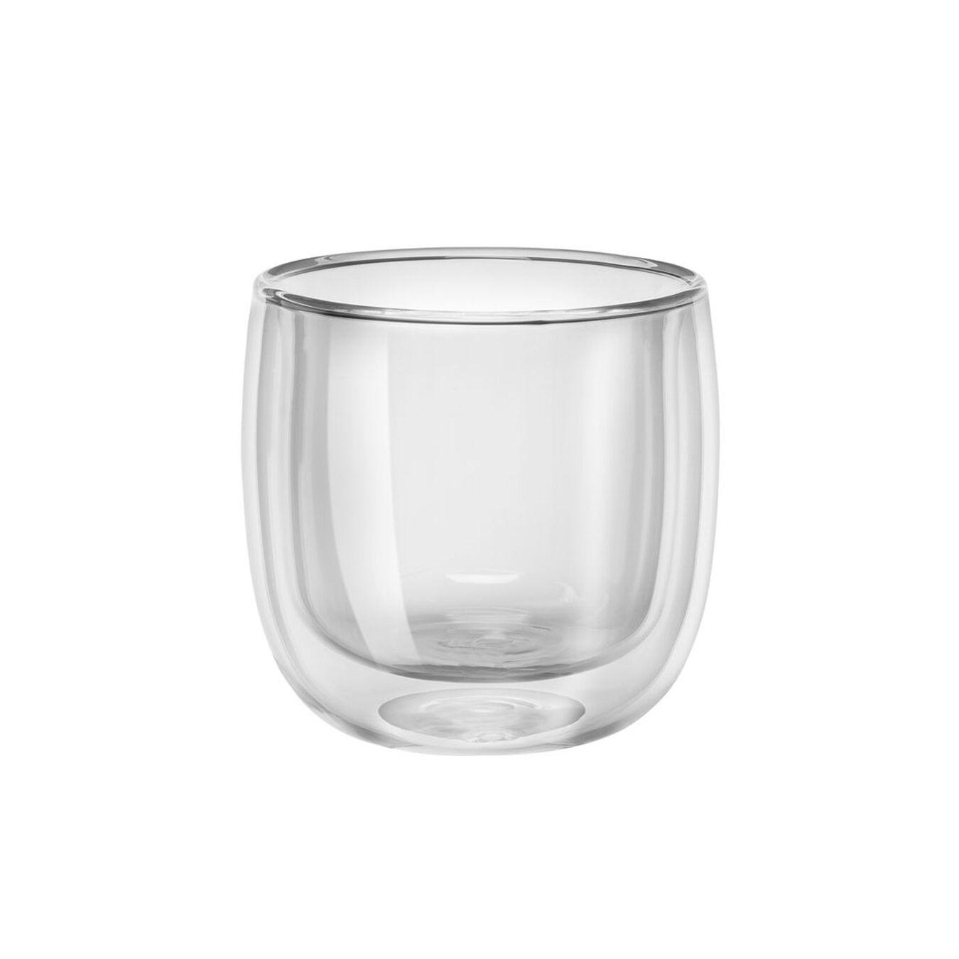 2-pc Tea glass set, Double wall glas ,,large 2