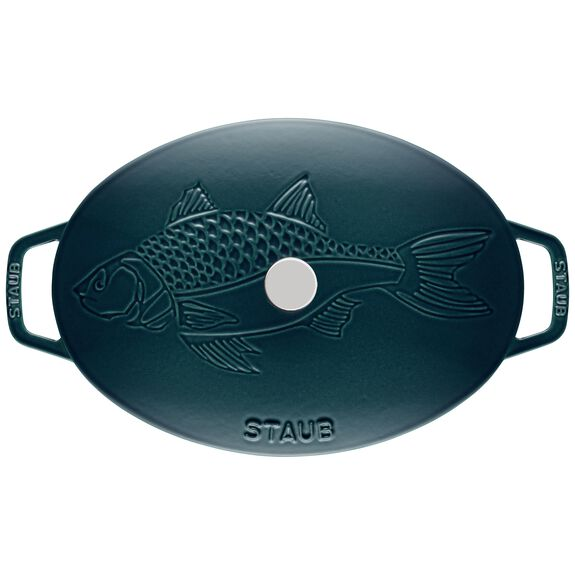 2.75-qt Oval Gratin with Fish Lid - Visual Imperfections - La Mer,,large 4