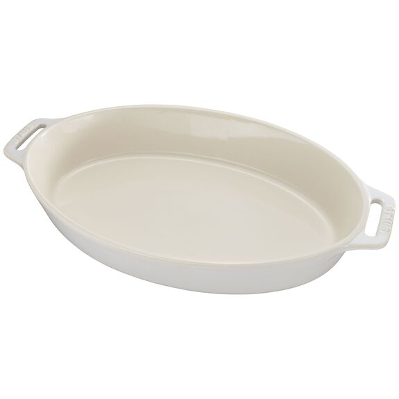 "14.5"" Oval Baking Dish, Rustic Ivory, , large"