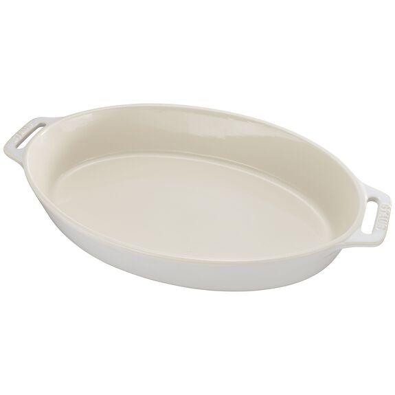 "14.5"" Oval Baking Dish, Rustic Ivory, , large"