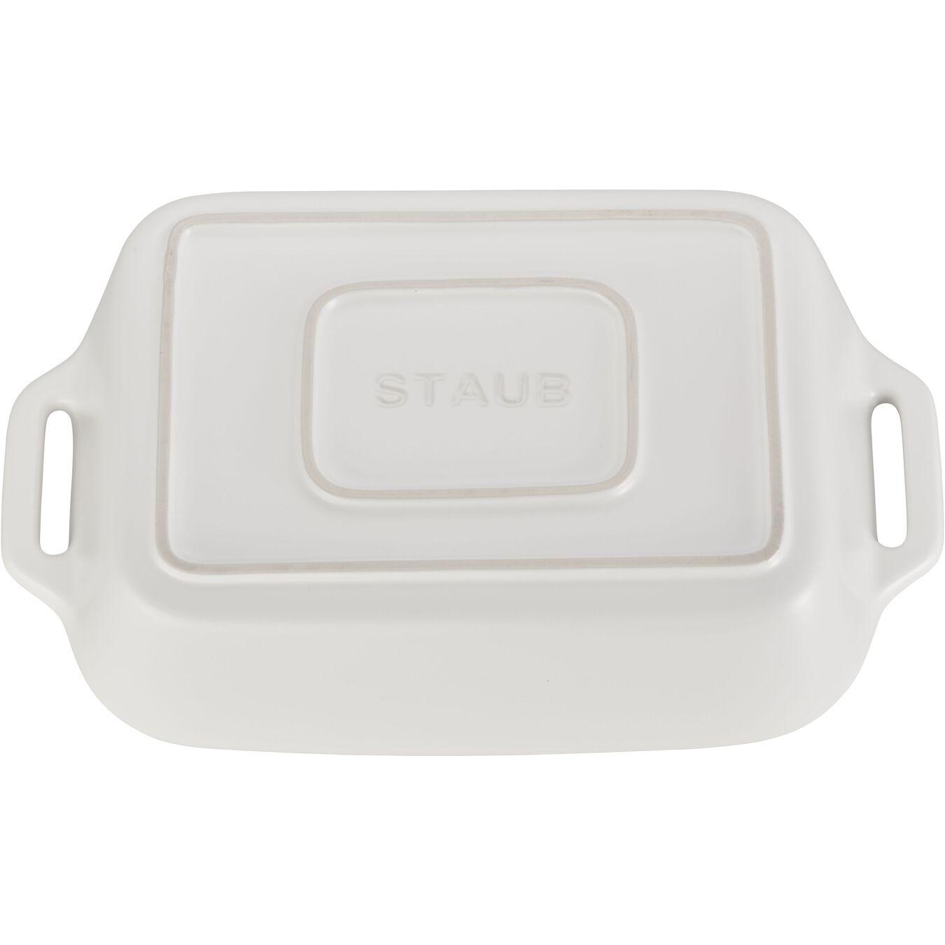 2 Piece rectangular Bakeware set, matte-white,,large 2