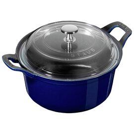 Staub Cast Iron, 7.87-inch round La Coquette with lid, Dark Blue