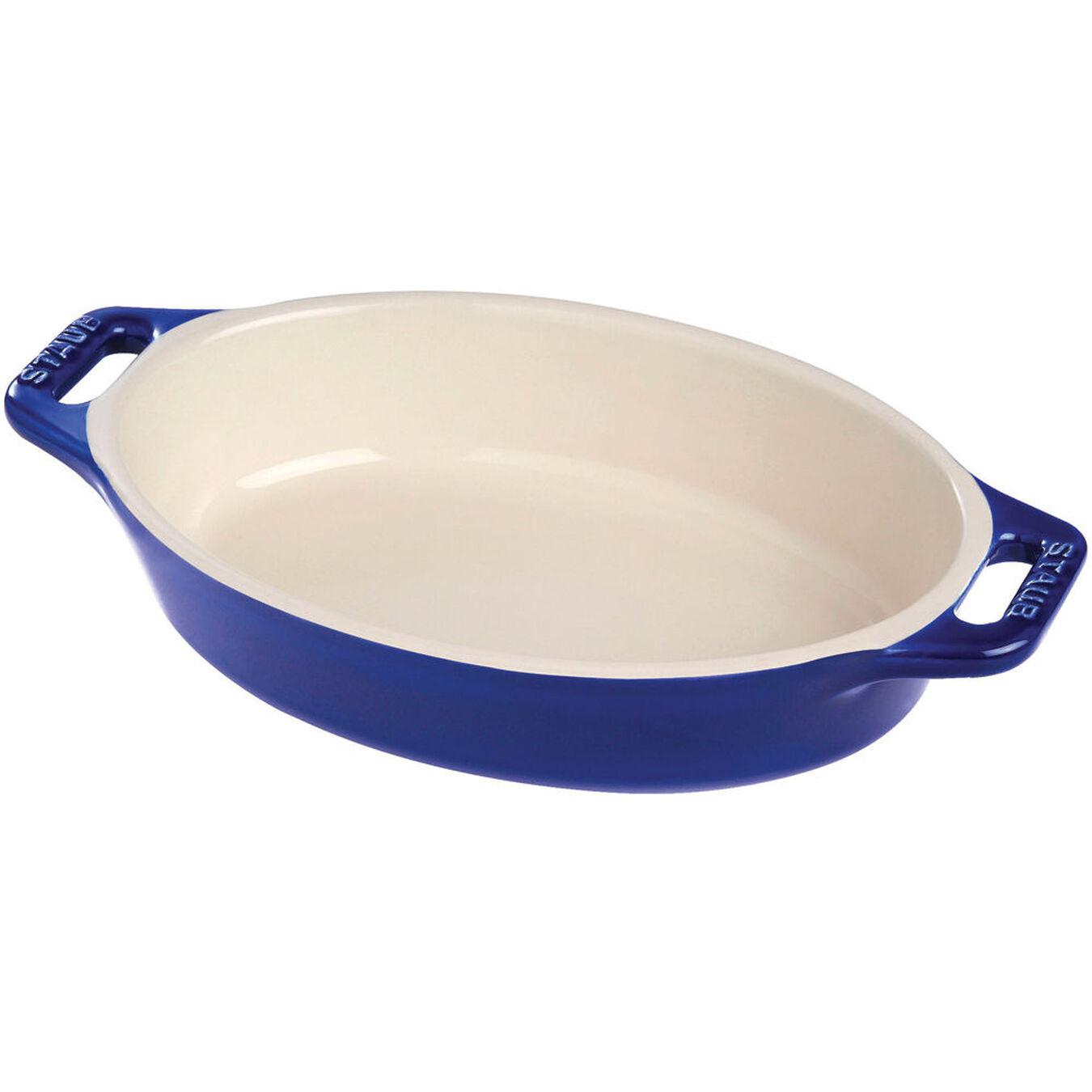 14.5-inch Oval Baking Dish - Dark Blue,,large 1