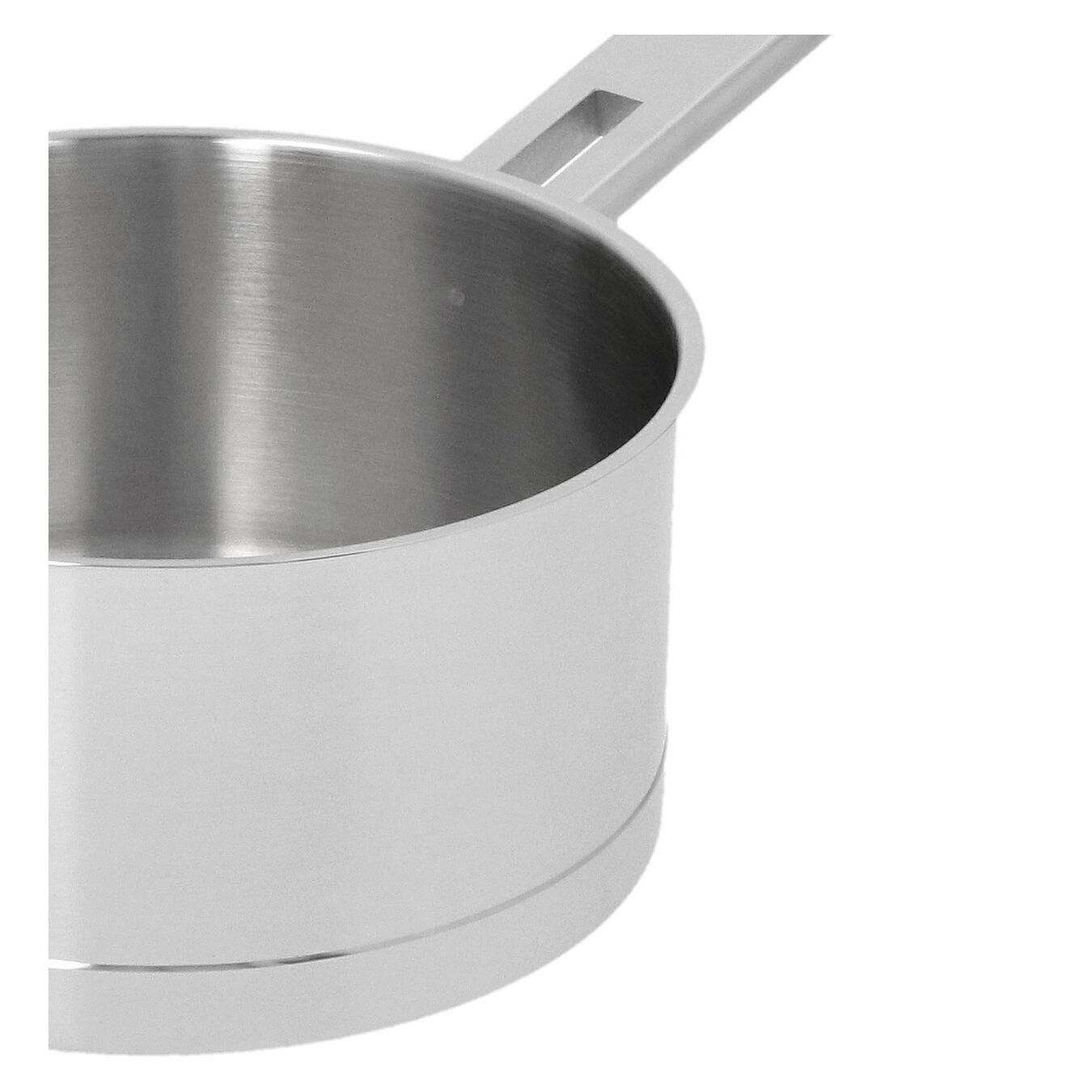 Stieltopf mit Deckel 18 cm, 18/10 Edelstahl, Silber,,large 4