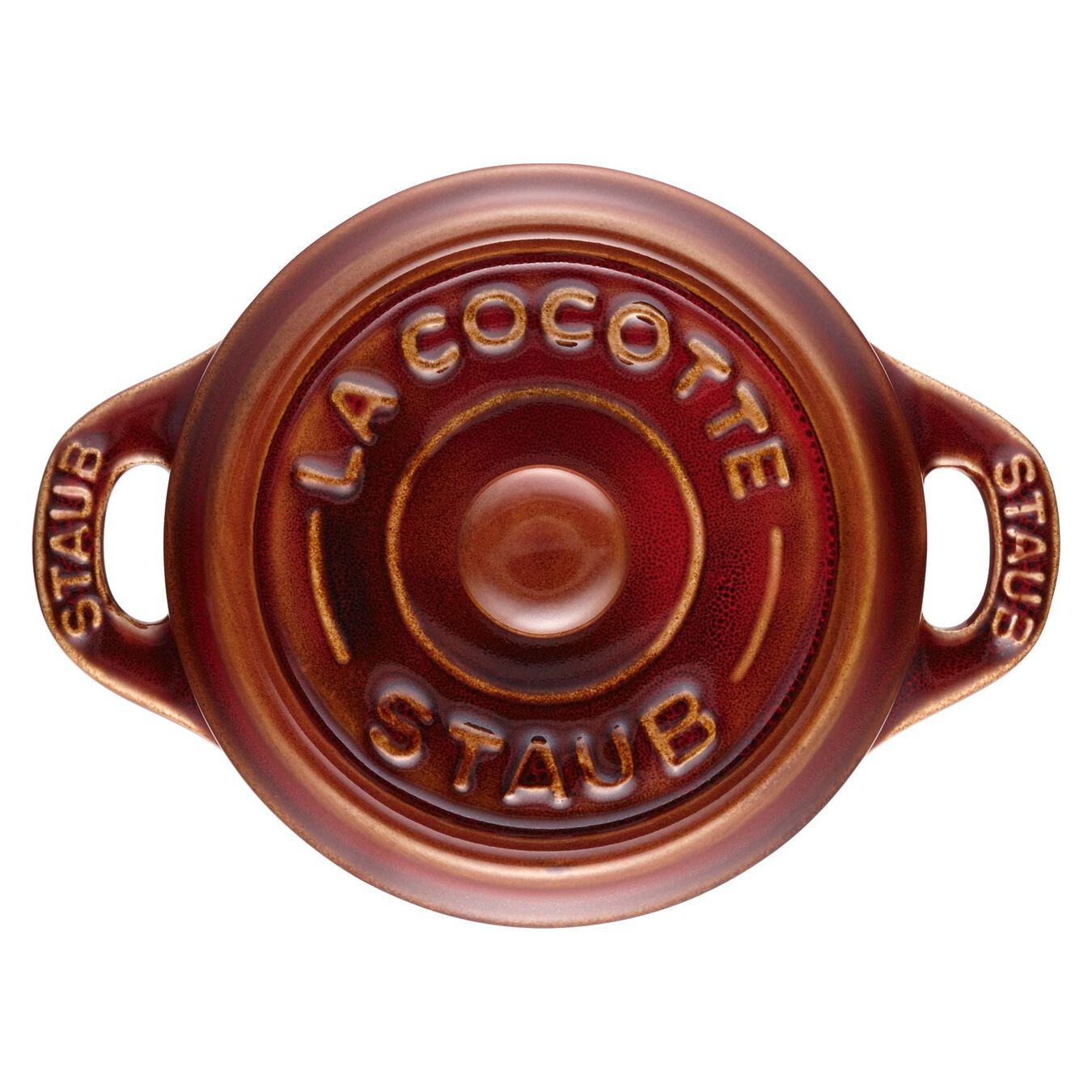 Mini Cocotte 10 cm, rund, Antik-Kupfer, Keramik,,large 5