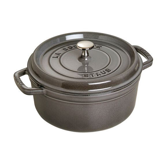 8.75-qt round Cocotte, Graphite Grey,,large 2