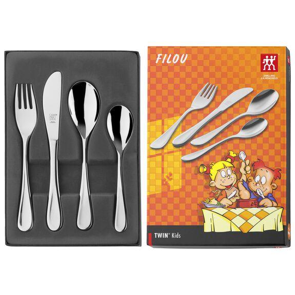 4-pc  Children's flatware set Filou,,large 2
