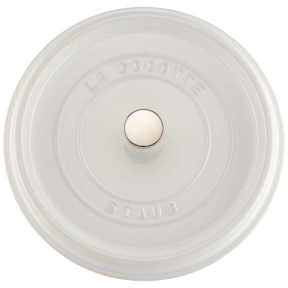 5.5-qt Round Cocotte - White,,large 4