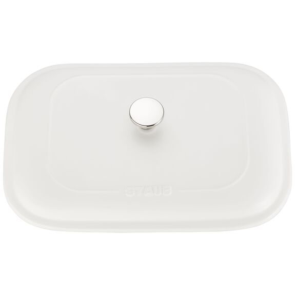 12-inch x 8-inch Rectangular Covered Baking Dish - Matte White,,large 4