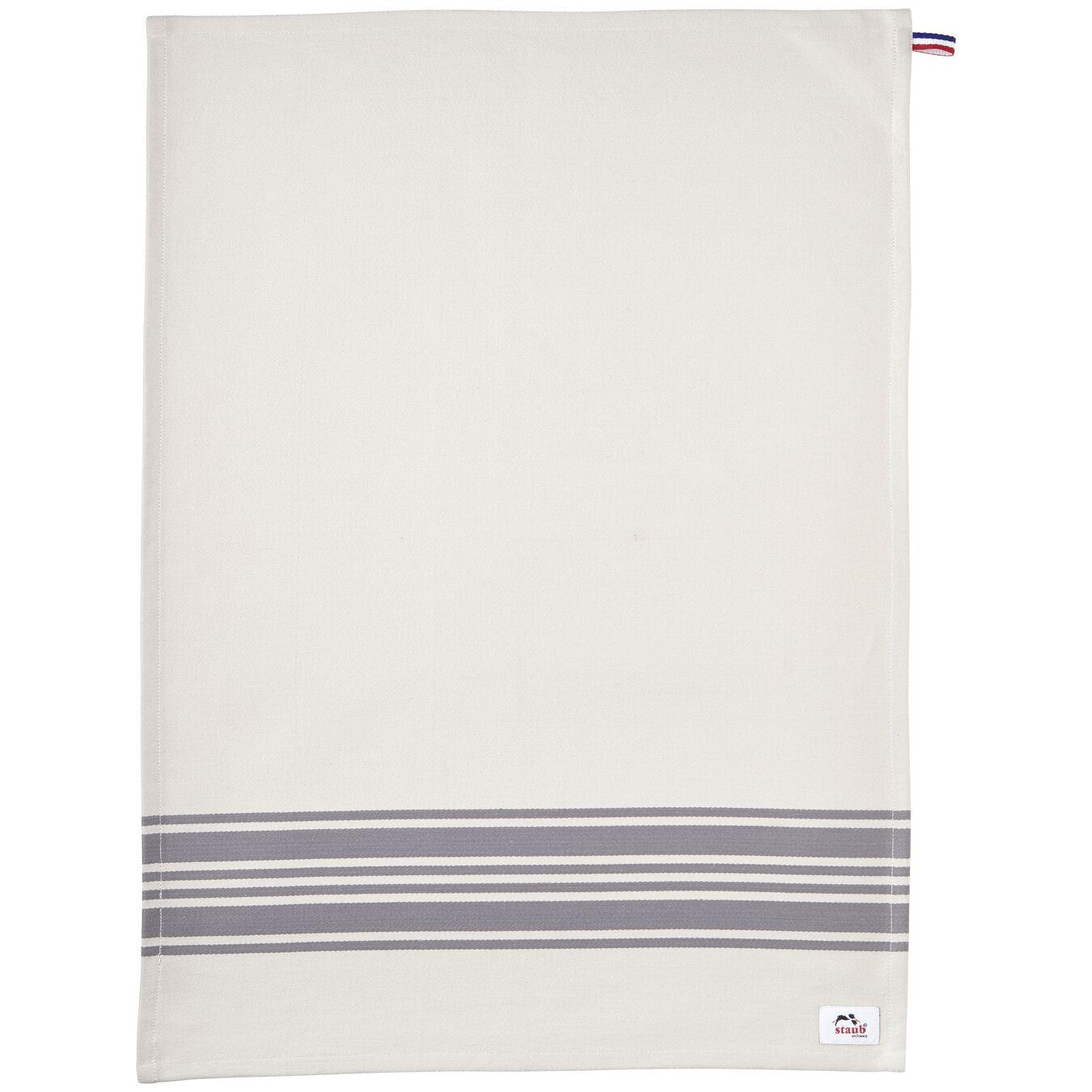 70 cm x 50 cm Cotton Kitchen towel, Grey,,large 6