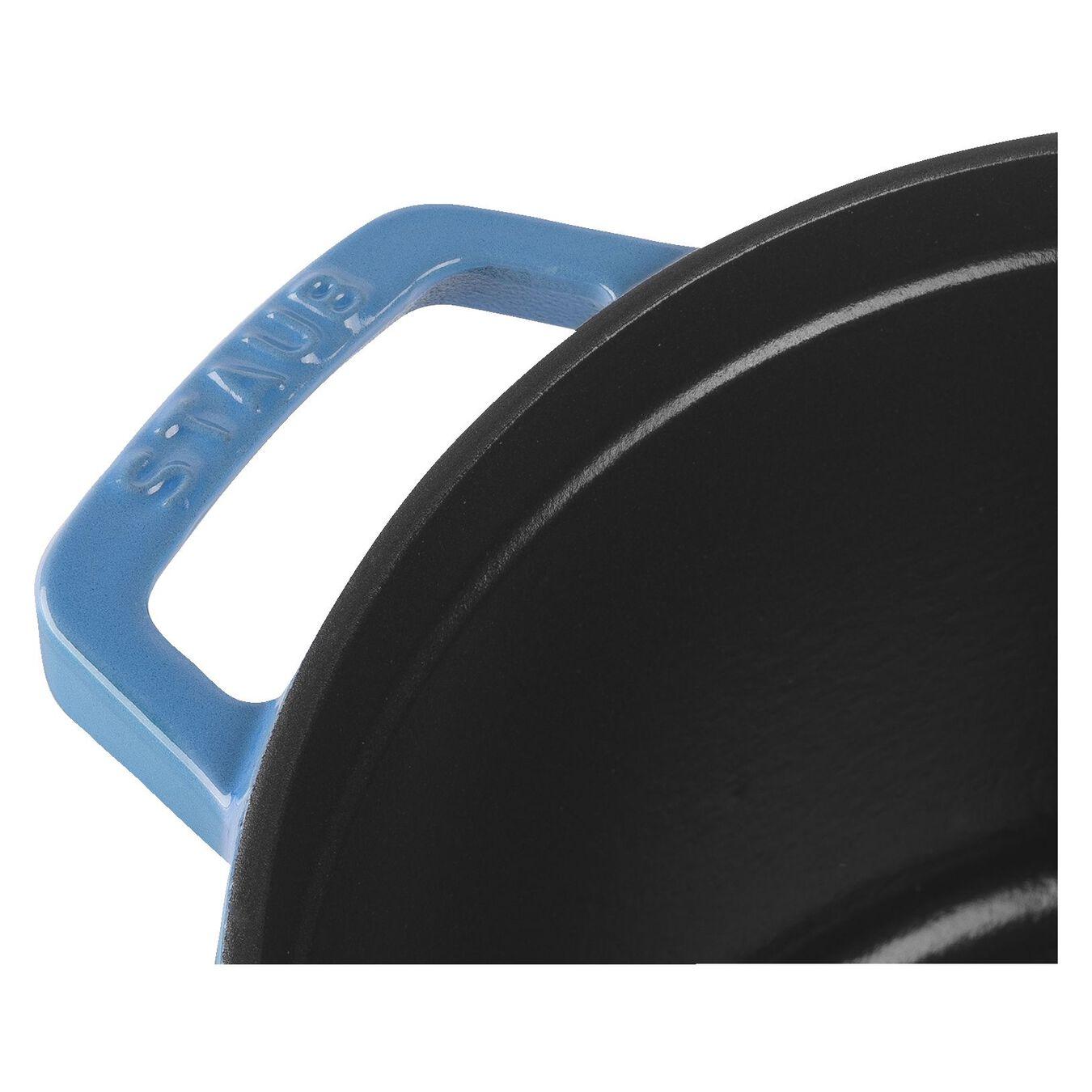 4,75 l Cast iron round Poêle à frire en fonte, Ice-Blue,,large 2
