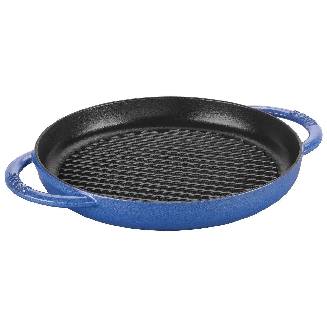 round, Grill pan, Metallic Blue,,large 1