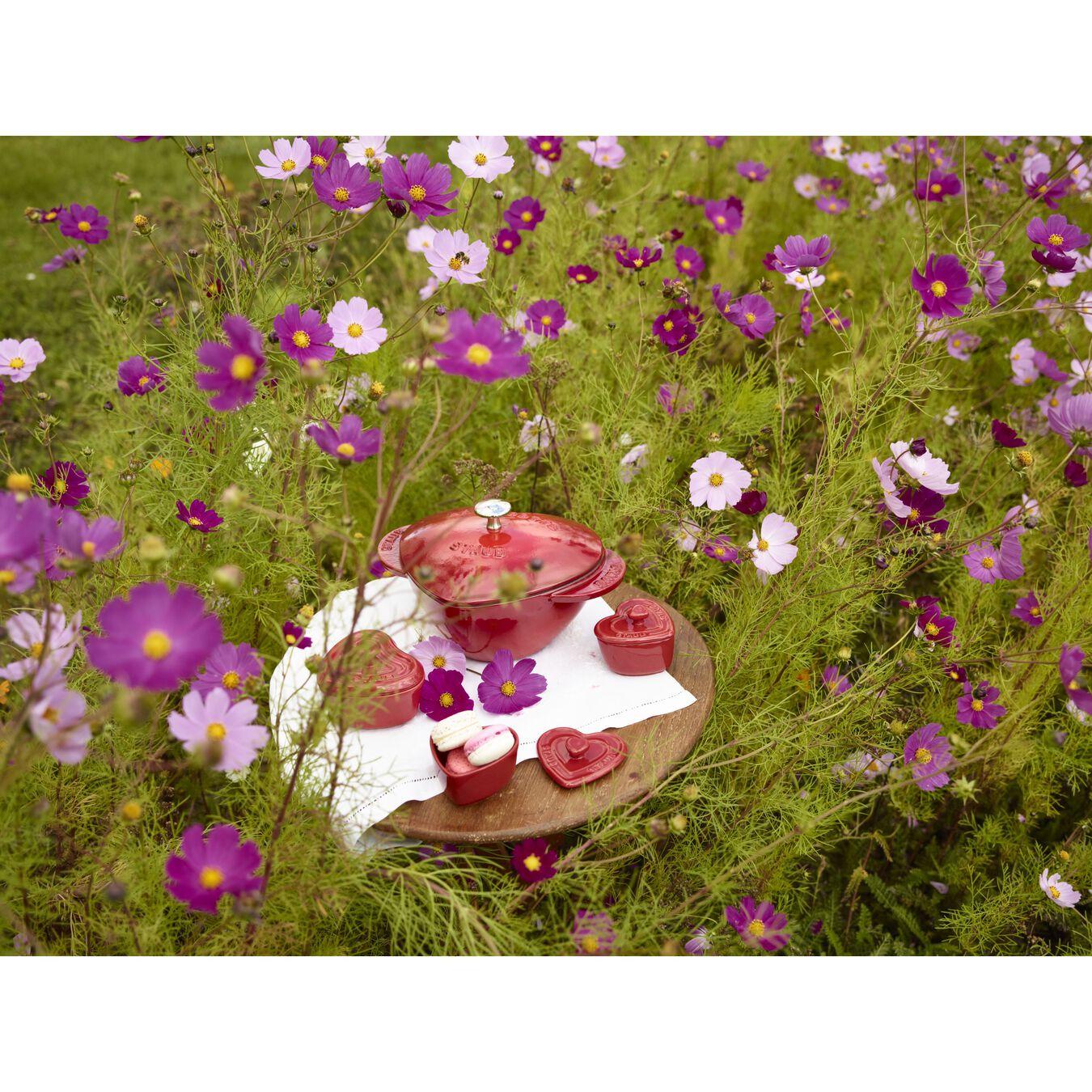 Cocotte en fonte 20 cm / 1,75 l, Coeur, Cerise,,large 7