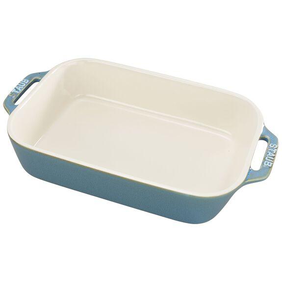 """10.5x7.5"""" Rectangular Baking Dish, Rustic Turquoise, , large"""