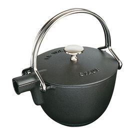 Staub Cast Iron, 1.25 qt, round, Tea pot, black matte