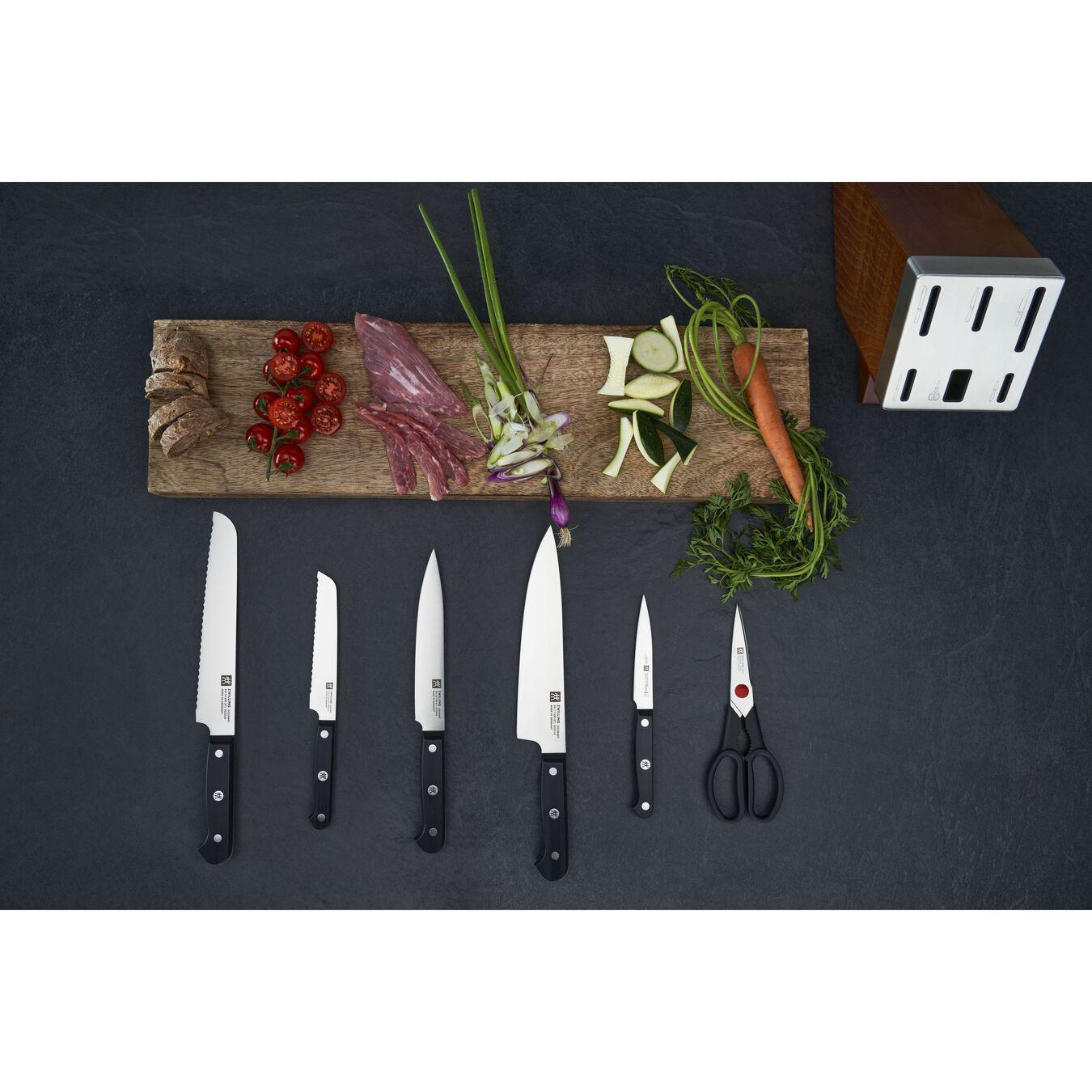 Set di coltelli con ceppo con sistema autoaffilante - 7-pz., nero,,large 4