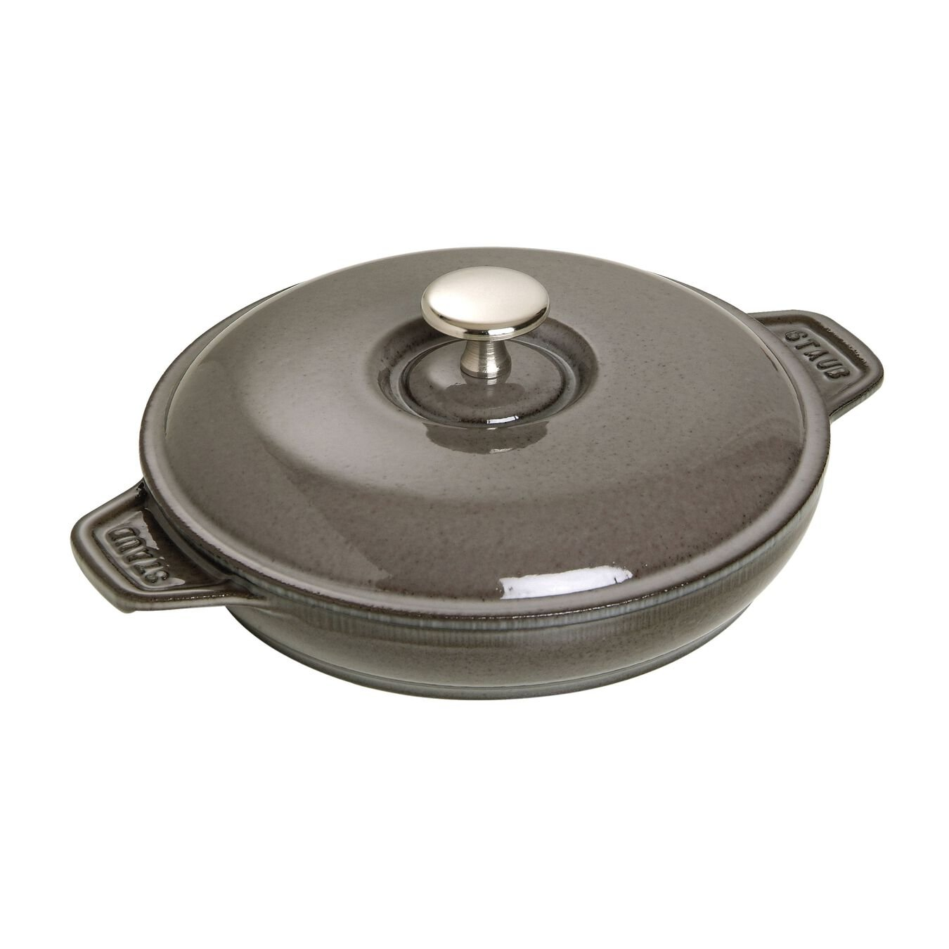7.9-inch Round Covered Baking Dish - Graphite Grey,,large 2