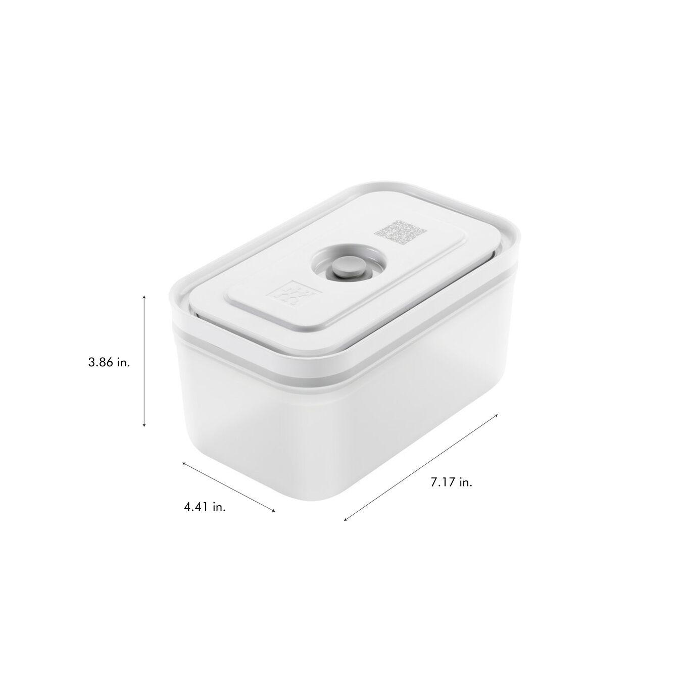 Vacuum Container Set, small/medium/large / 3-pc, Plastic, White,,large 10