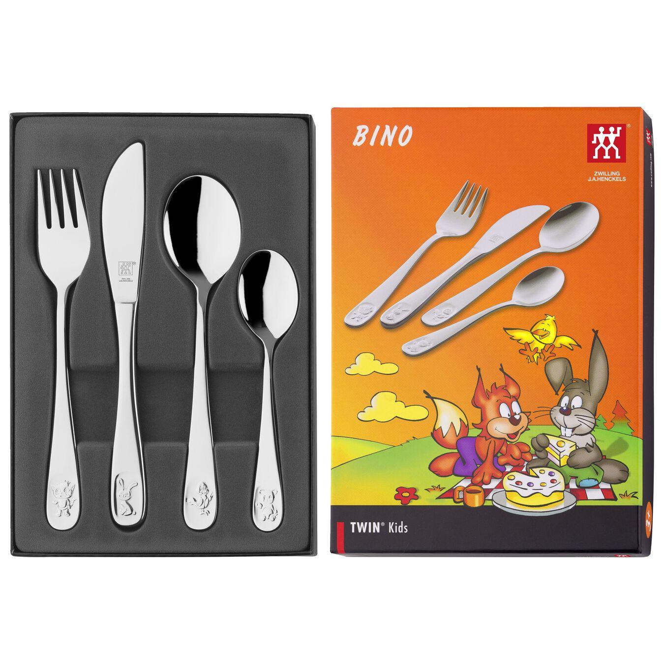 4-pc TWIN Kids  Bino Flatware Set, 18/10 Stainless Steel ,,large 3