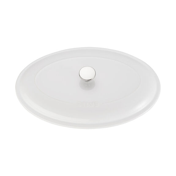 14-inch Oval Covered Baking Dish - White,,large 4