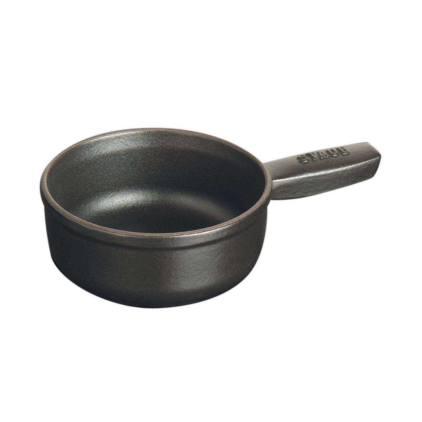Caquelon à fondue 12 cm, Noir,,large 3