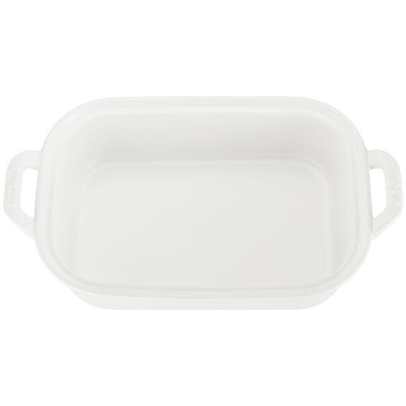 Ceramic Rectangular Covered Baking Dish, Matte White,,large 2