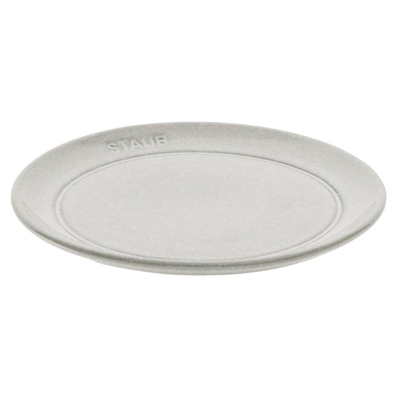 Piatto piano rotondo - 15 cm, tartufo bianco,,large 1