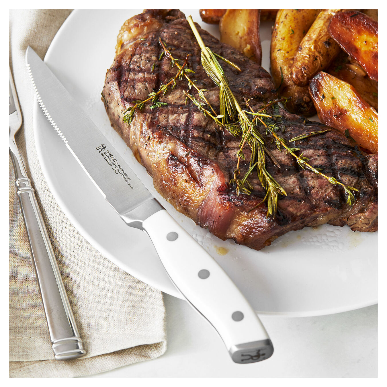 4-pc, Steak Knife Set - White,,large 3