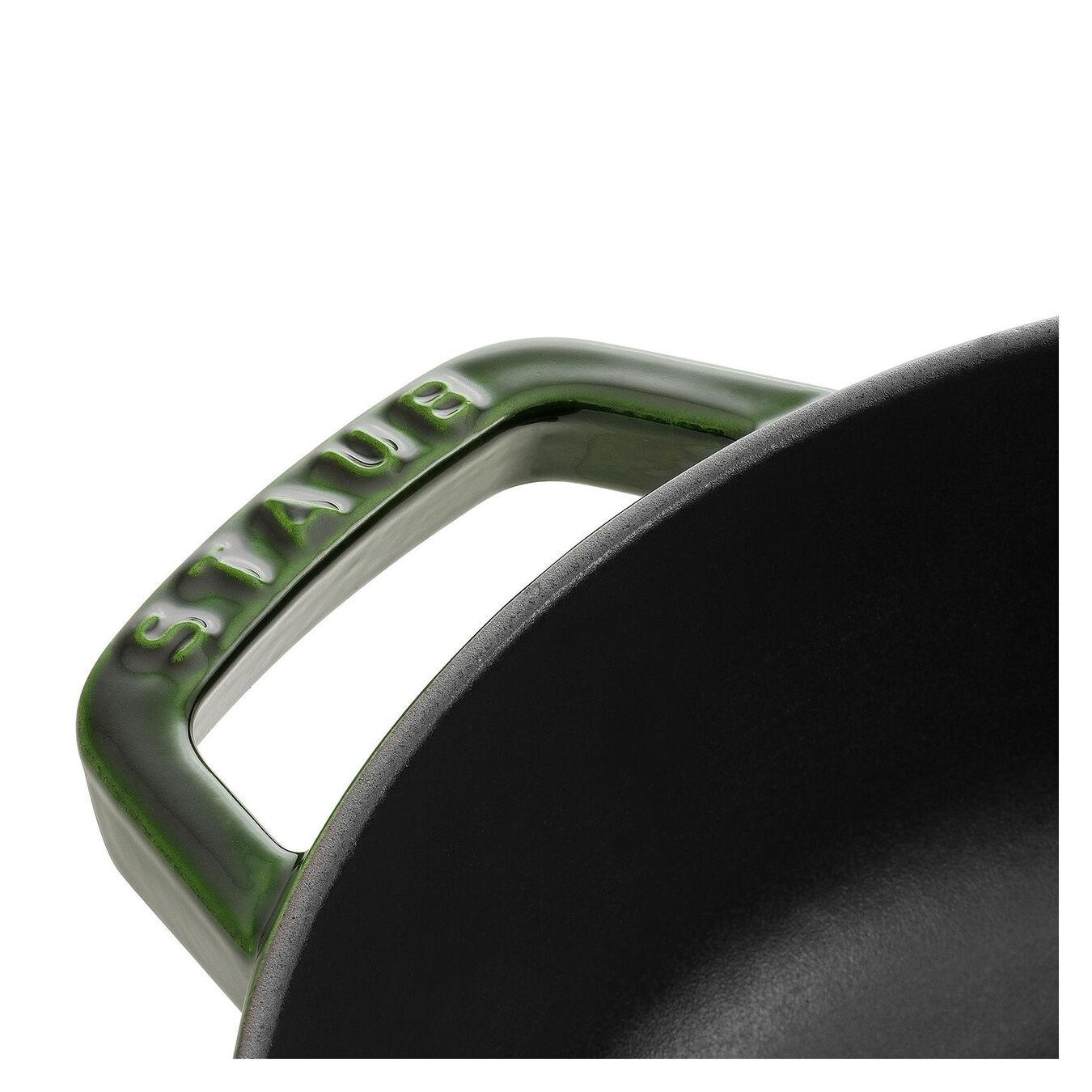 3.75 l Cast iron round Saute pan Chistera, Basil-Green,,large 3
