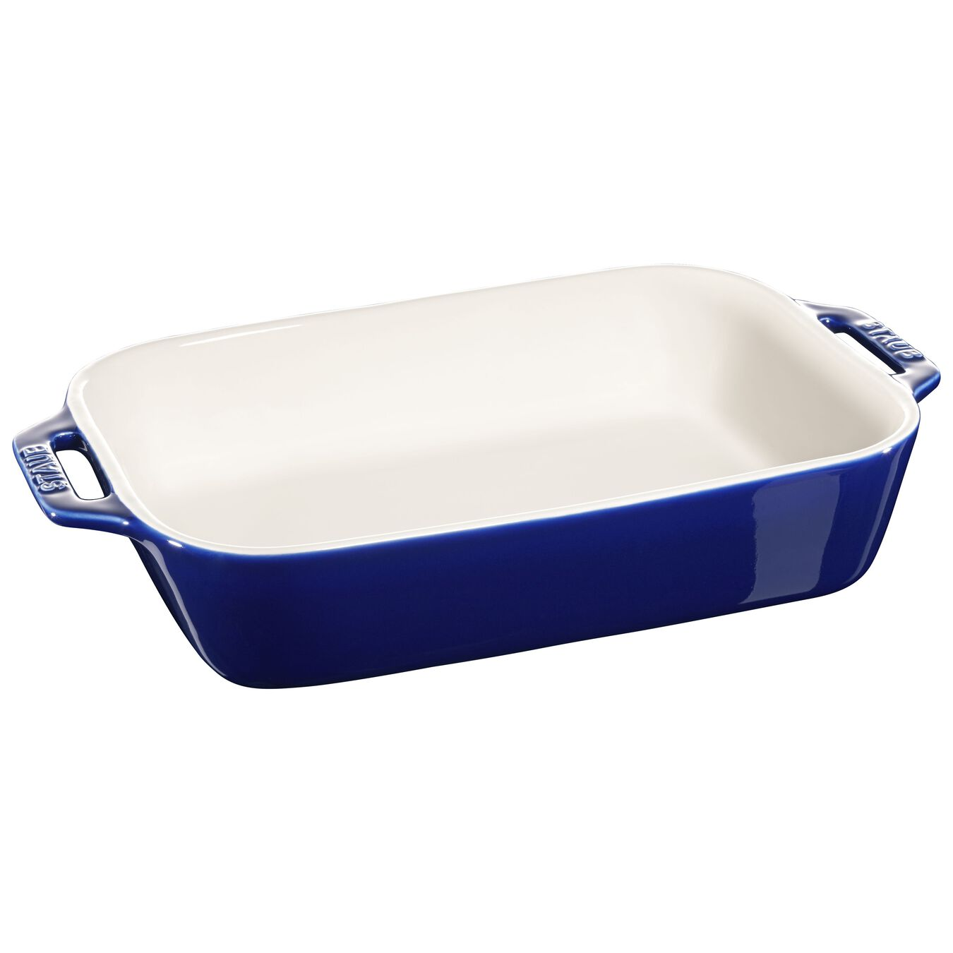2-pcs rectangular Ensemble plats de cuisson pour le four, Dark-Blue,,large 2