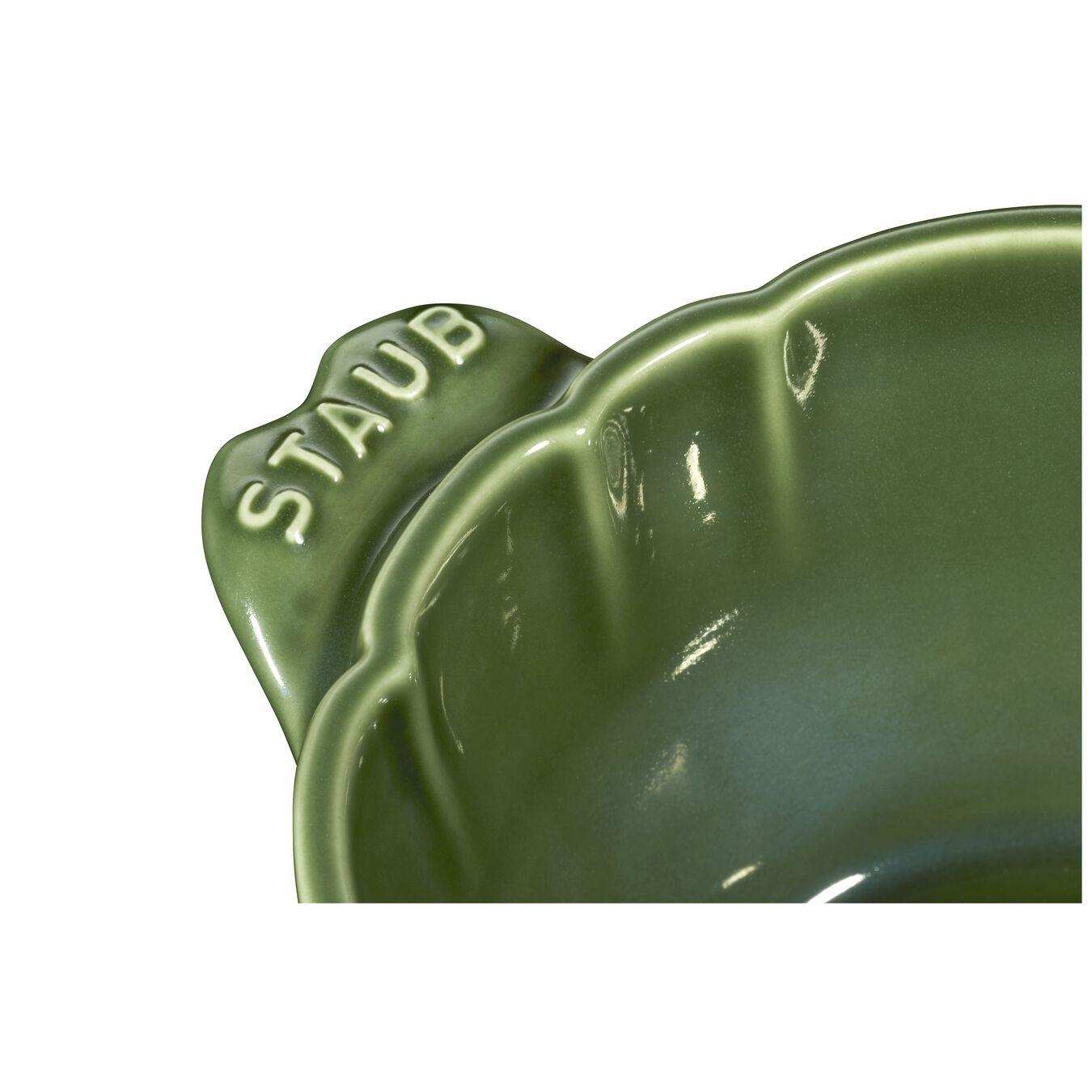 Cocotte 13 cm, Artischocke, Basilikum-Grün, Keramik,,large 12