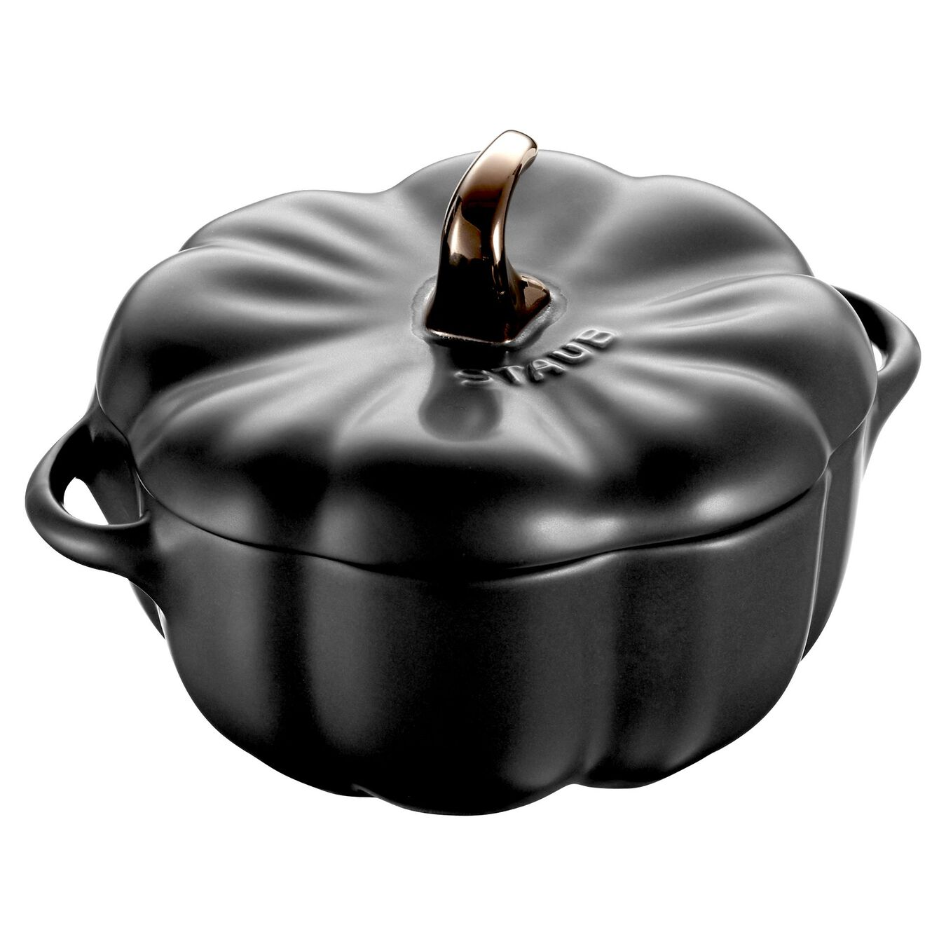 500 ml Ceramic pumpkin Cocotte, Black,,large 1