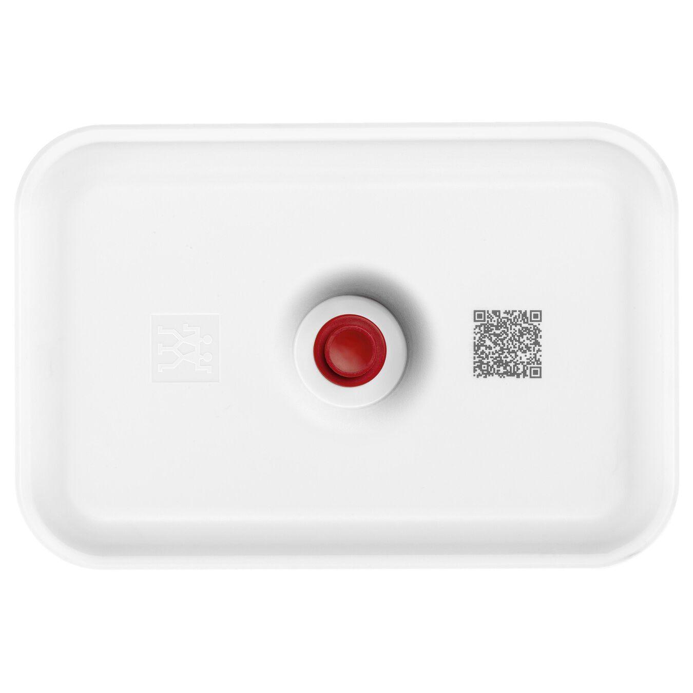 Lunch box sottovuoto, L, plastica, bianco-rosso,,large 2