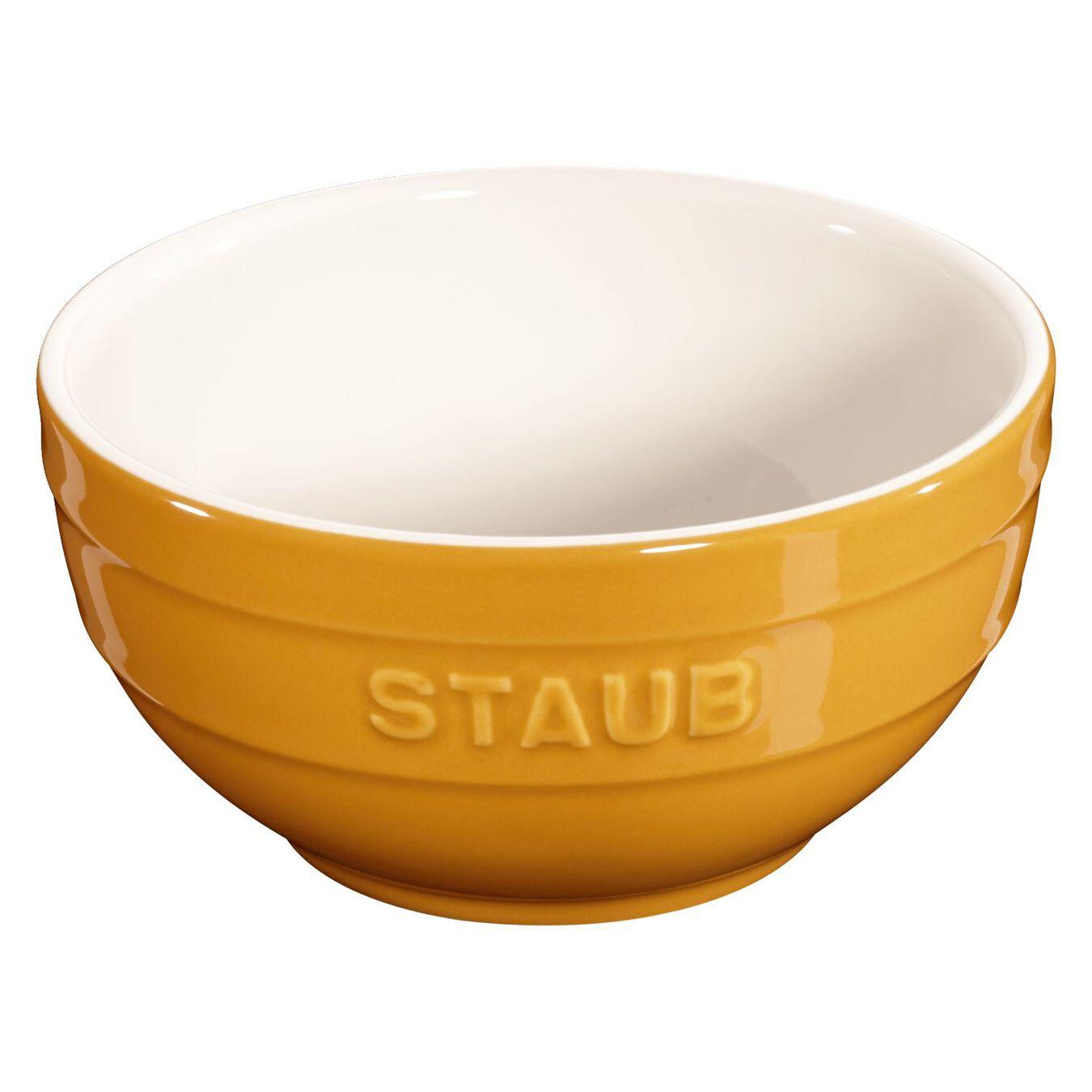 Schüssel 12 cm, Keramik, Senf,,large 1