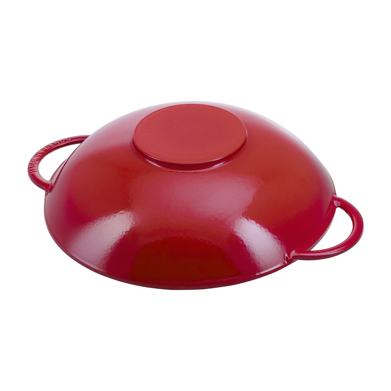 37 cm / 14.5 inch Wok with glass lid, cherry - Visual Imperfections,,large 4