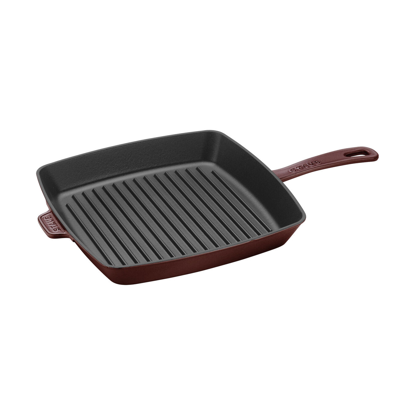 26 cm Cast iron square American grill, Grenadine-Red,,large 1