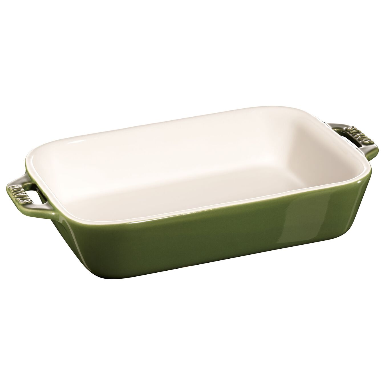 2-pcs rectangular Ensemble plats de cuisson pour le four, Basil-Green,,large 3