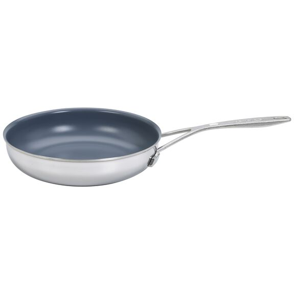9.5-inch Stainless Steel Ceramic Nonstick Fry Pan,,large